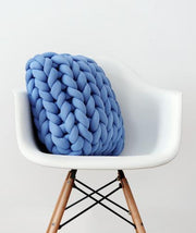 Ultra Thick Knitted Throw Pillow
