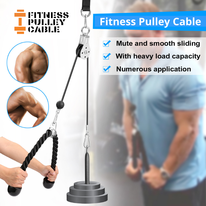 At Home Fitness Pulley Cable™