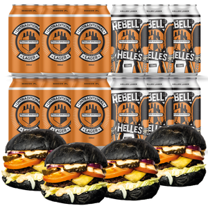Twelve Pillars Beers + Four Green Grill Mighty Meaty Burgers