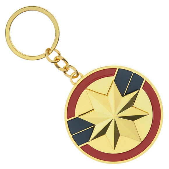 Marvel Clothing Captain Marvel Spinner Keychain - Iconic Wars