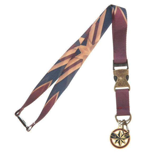 Marvel Accessories Captain Marvel School ID Employee Badge Lanyard Keychain - Iconic Wars