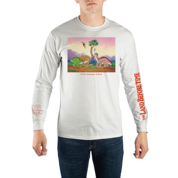 Land Before Time Mens Cartoon Graphic Tee Fan Apparel