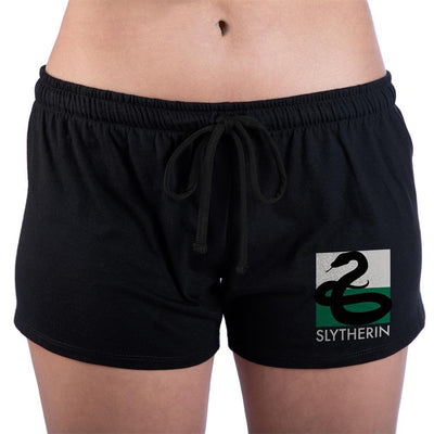 Hogwarts Slytherin Juniors Graphic Sleep Shorts - Iconic Wars