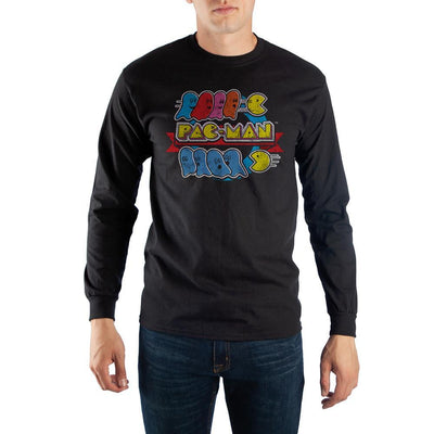 Pac-Man Long Sleeve Tee Shirt - Iconic Wars