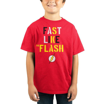 Fast Like Flash Comic Book Youth Graphic Tee - Iconic Wars