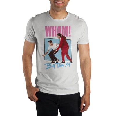 Wham! Pop Big Tour '84 Mens Short Sleeve Shirt - Iconic Wars