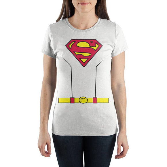 Superman Comic Book Juniors Graphic Tee - Iconic Wars