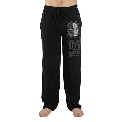Star Wars Movie Storm Trooper Mens Black Sleep Pants - Iconic Wars