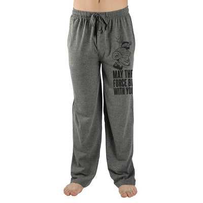 Mens Grey May The Force Be With You Star Wars Sweatpants - Iconic Wars