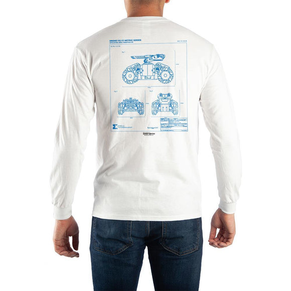 Mens Ghost Reacon Skell Technology White Long Sleeve Shirt