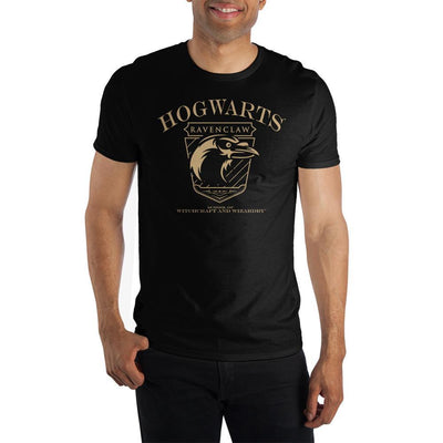 Mens Ravenclaw Hogwarts House Black Short Sleeve Shirt - Iconic Wars