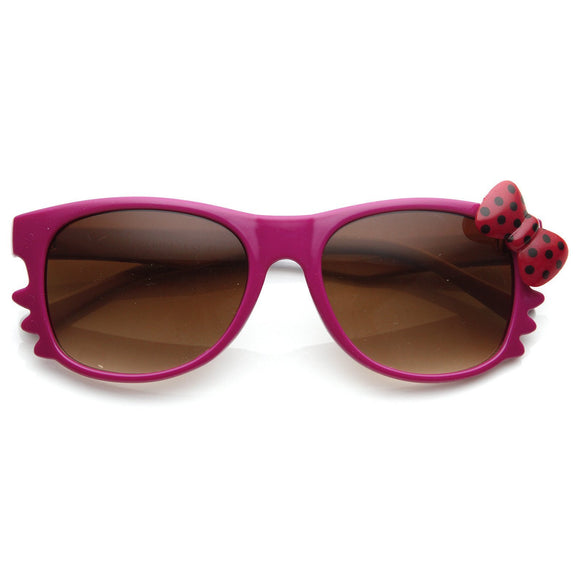 Cute Hello Kitty Colorful Polka Dot Bow Sunglasses 8799 - Iconic Wars