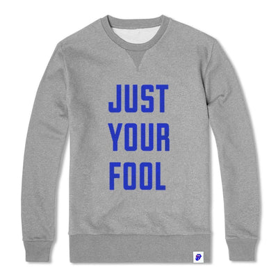 ROLLING STONES JUST YOUR FOOL - MENS HEATHER GREY CREW NECK FLEECE - Iconic Wars
