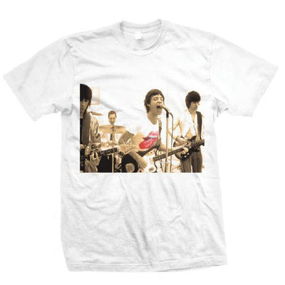 ROLLING STONES GROUP PHOTO - MENS WHITE T-SHIRT - Iconic Wars