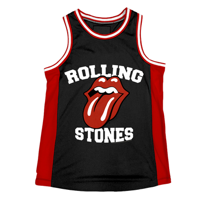 ROLLING STONES | TONGUE LOGO BASKETBALL JERSEY - Iconic Wars