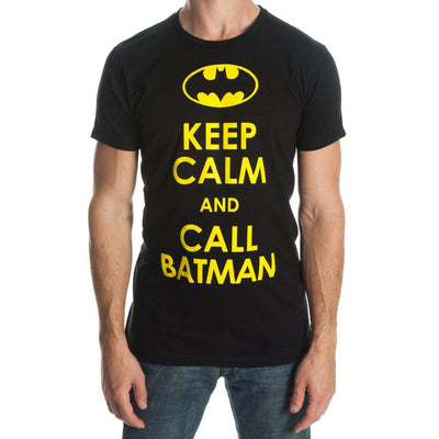 Batman Keep Calm And Call Batman T-shirt Tee Shirt - Iconic Wars
