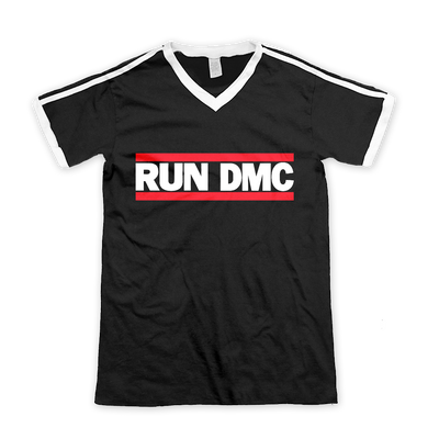RUN DMC | HORIZONTAL LOGO SOCCER T-SHIRT - Iconic Wars