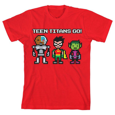 Boys Teen Titans Go Shirt Youth Red TShirt - Iconic Wars