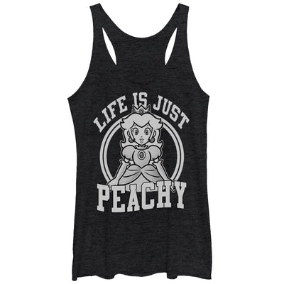 Just Peachy - Racerback Tank - Iconic Wars