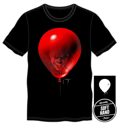 It Mens Red Balloon Black T-Shirt - Iconic Wars