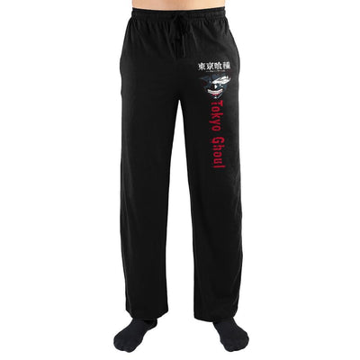 Tokyo Ghoul Smiling Eyepatch Japanese Text Sleep Pants - Iconic Wars