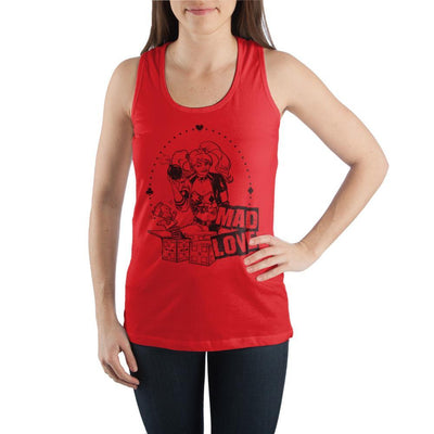 Mad-Love-Harley-Quinn-Graphic-Tank-Top - Iconic Wars