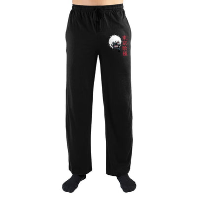 Tokyo Ghoul Eyepatch Japanese Text Sleep Pants - Iconic Wars