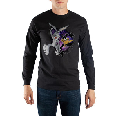 Black Looney Tunes Space Jam Long Sleeve T-Shirt - Iconic Wars