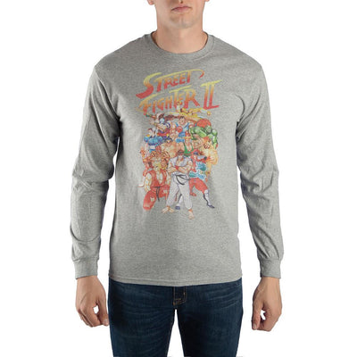 Street Fighter 2 Long Sleeve Shirt For Men - Iconic Wars
