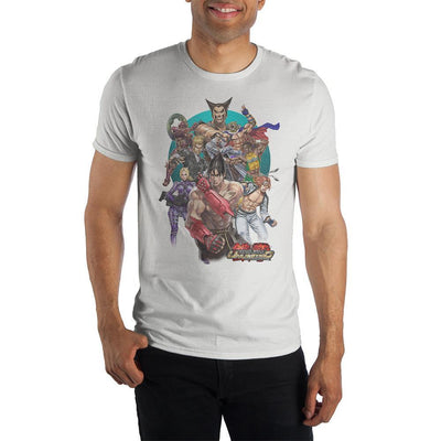 Character Group Tekken TShirt White Mens Gaming Shirt and Tekken Apparel - Iconic Wars