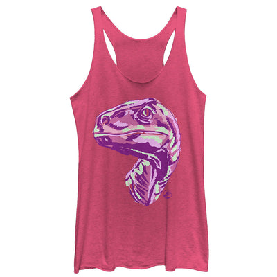 Sketchy Dino - Racer Back Tank - Iconic Wars