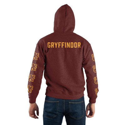 Harry Potter Gryffindor Quidditch Pullover Hooded Sweatshirt - Iconic Wars