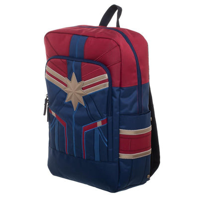 Marvel Captain Marvel Padded Strap Backpack Laptop Bookbag Daypack School Bag - Iconic Wars