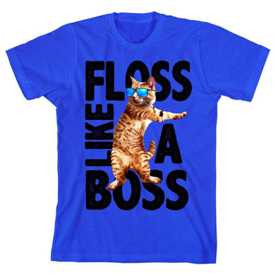 Cool Cat ?Floss Like A Boss? Youth Short-Sleeve T-Shirt - Iconic Wars