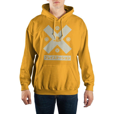 PlayStation X-Factor Kanji Text Pullover Hooded Sweatshirt - Iconic Wars