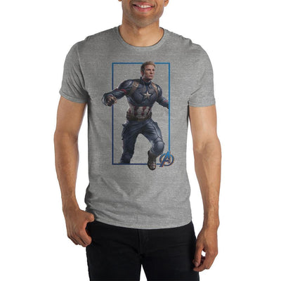 Mens Captain America Shirt Short Sleeve Avengers Mens Clothing - Iconic Wars