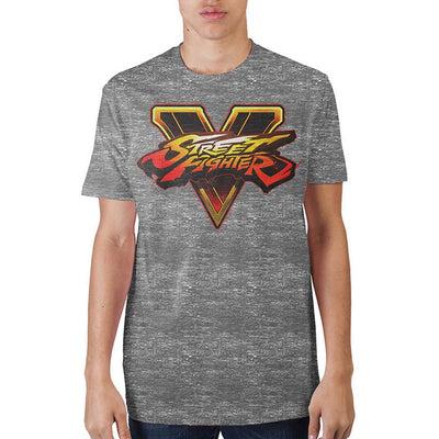 Street Fighter Logo Grey T-Shirt - Iconic Wars