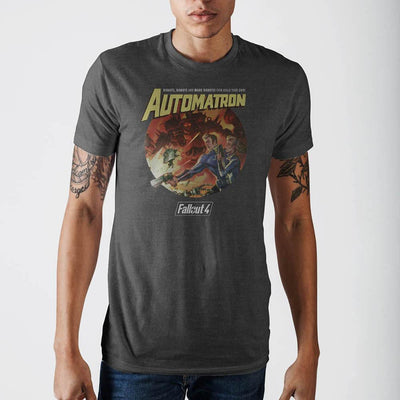 Fallout Automatron Grey T-Shirt - Iconic Wars
