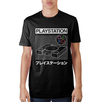 Playstation Grid Black T-Shirt - Iconic Wars