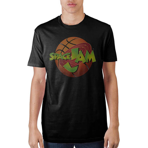 Space Jam Logo Black T-Shirt - Iconic Wars