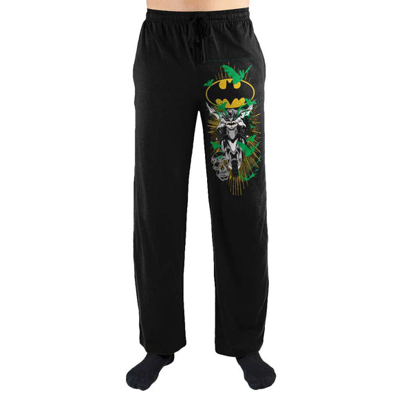 DC Comics Batman Batcycle Bike Leg Print Mens Nightwear Lounge Sleep Pants - Iconic Wars