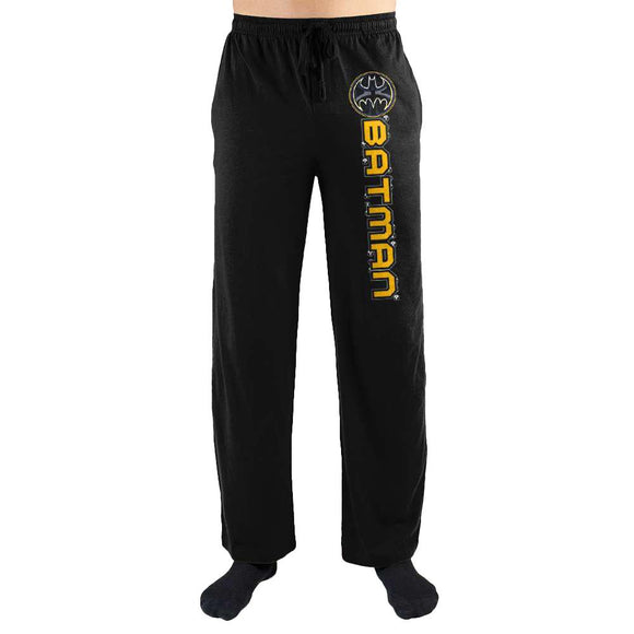 Batman DC Comics Logo Racing Stripe Night Lounge Sleep Pants For Men - Iconic Wars