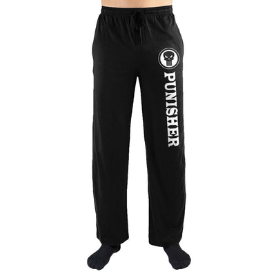 Marvel Comics The Punisher Print Men's Loungewear Nightwear Bottoms Lounge Pants - Iconic Wars