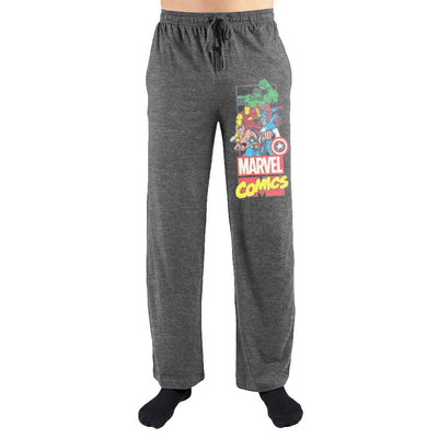 Marvel Comics Avengers Print Men's Loungewear Lounge Pants - Iconic Wars