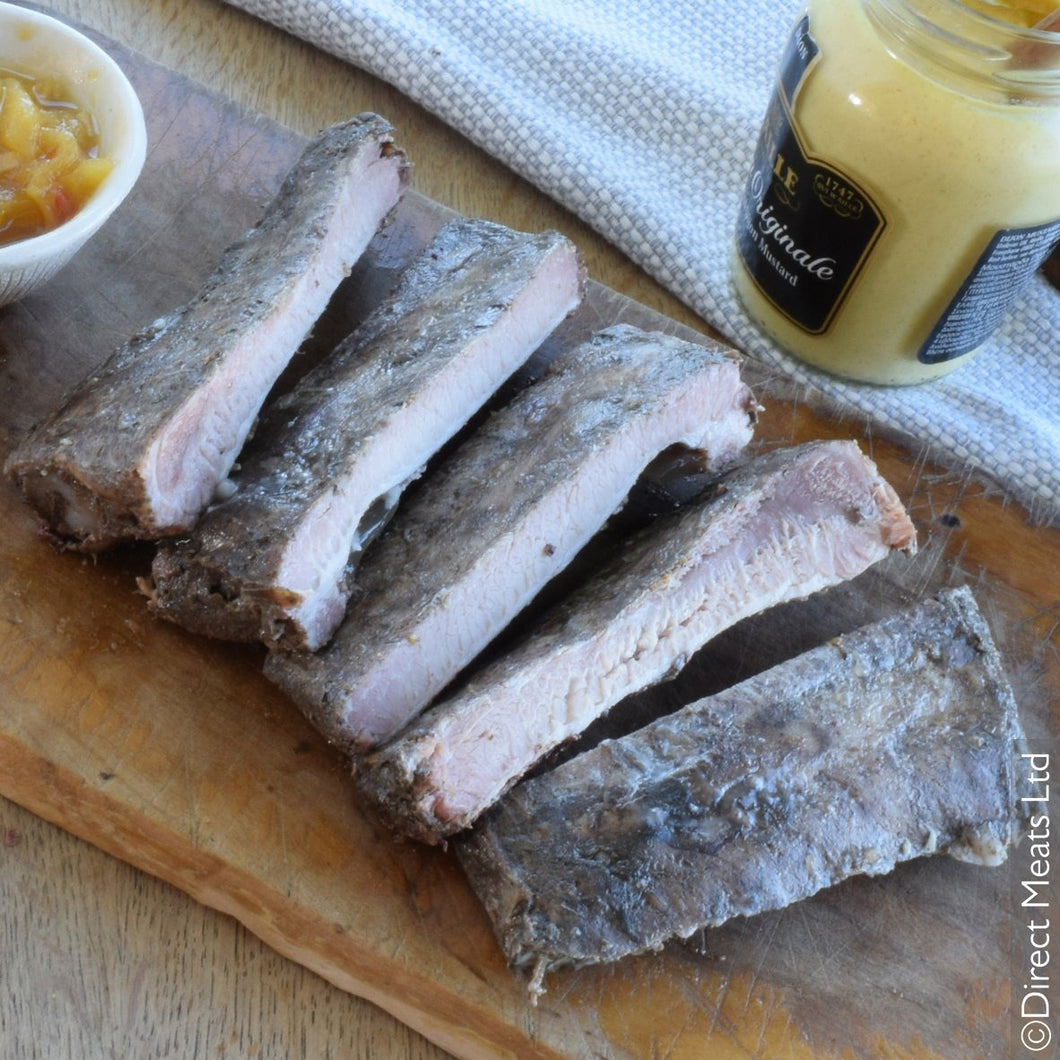 *Frozen* Dingley Dell Pork Cooked Dry Rub Rib Rack