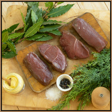 Load image into Gallery viewer, *Frozen* Ben Rigby Venison Loin Steaks