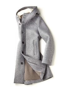 Fradi Warner Peacoat in Gray