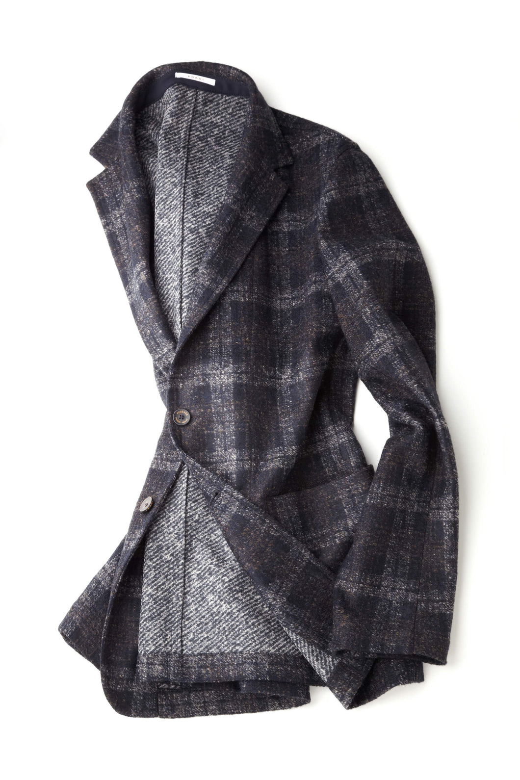 Fradi Postage Pocket Checked Wool-Blend Sports Jacket
