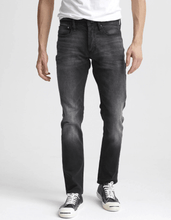 Load image into Gallery viewer, man is wearing Ace Black is an 11oz, comfort stretch jean, crafted from denim with a black warp and weft