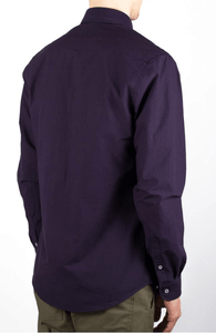 over dyed poplin-purple shirt